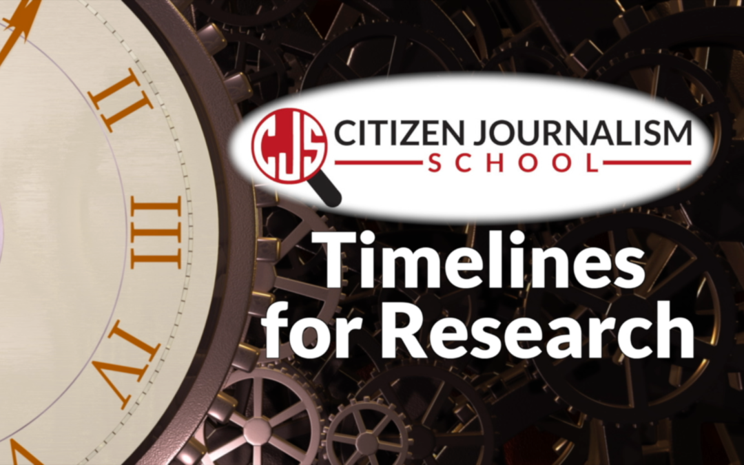Using Timelines for Journalistic Research